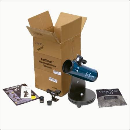 Orion 10033 FunScope 76mm TableTop Reflector Telescope Moon Kit