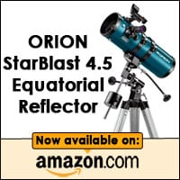 Orion StarBlast 4.5 Equatorial Reflector