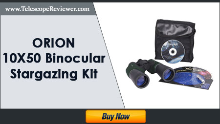 Orion 10X50 Binocular Stargazing Kit Mini LED
