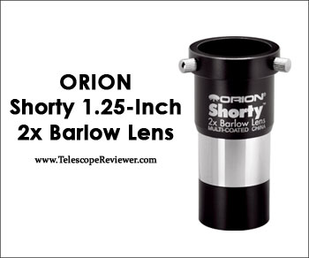 Orion 08711 Shorty 1.25 Inch 2x Barlow Lens