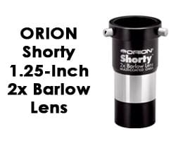Orion 08711 Shorty 1.25 Inch 2x Barlow Lens Review
