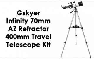 Gskyer Instruments Infinity 70mm AZ Refractor 400mm Travel Telescope Kit