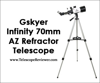 Gskyer® Instruments Infinity 70mm AZ Refractor 400mm Travel Telescope Kit